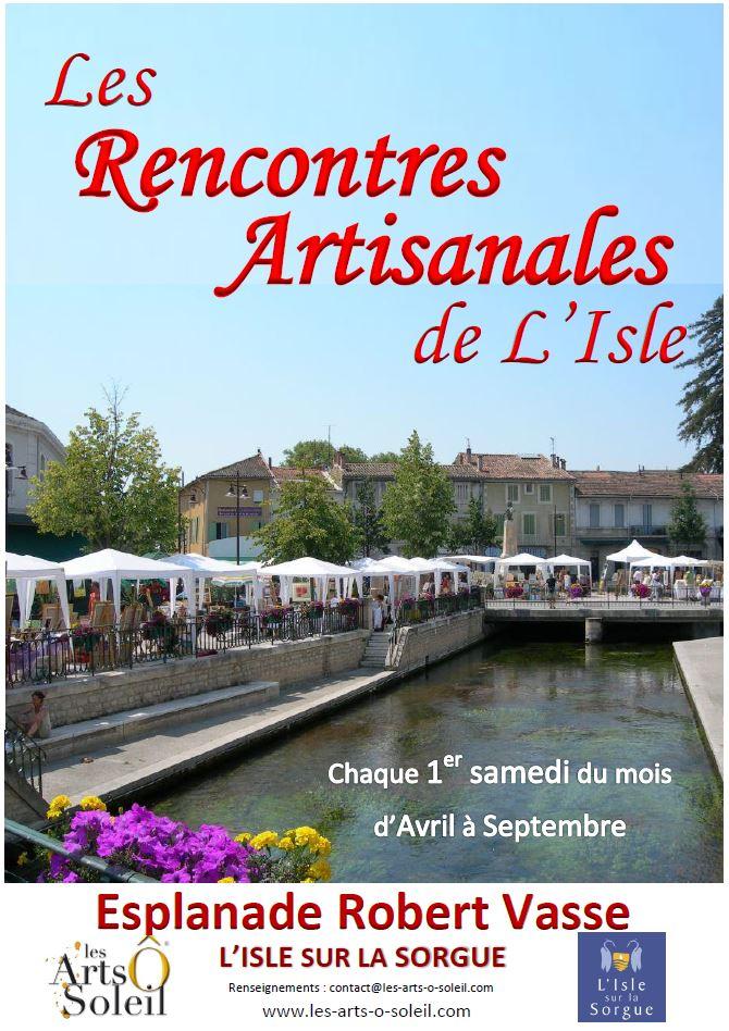 Affiche Artisanales L'Isle 2016
